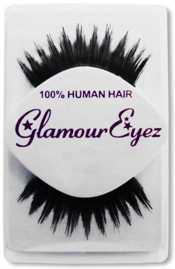 Human Hair Eyelashes Black Jagged Long