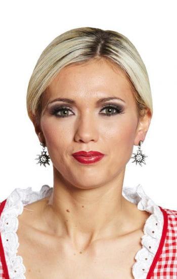 Edelweiss Earrings with Rhinestones
