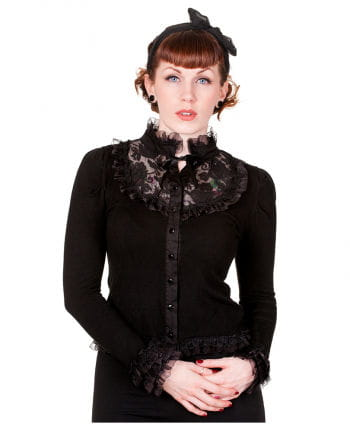 Black cardigan with lace