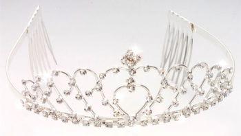 Elegant rhinestone tiara Madelaine