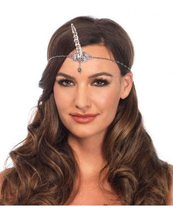 Einhorn Stirnband Kette Silber