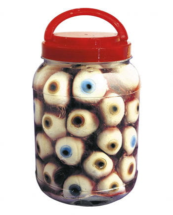 Jar with eyes