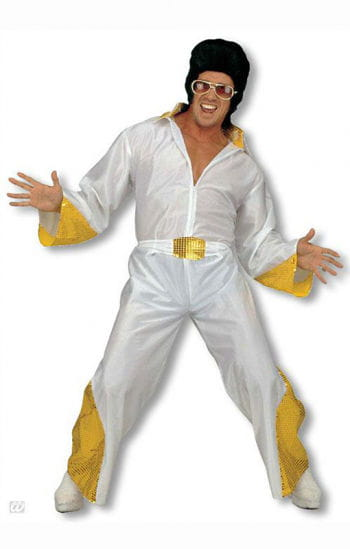 King of Rock costume with golden glitter M
