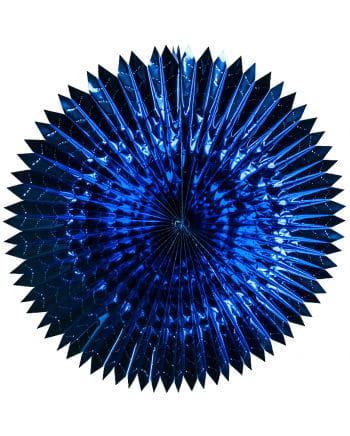 Faltfächer Metallfolie Blau 60cm