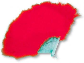 Feather Fan Red