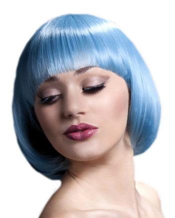 Damen Perücke Mia pastellblau