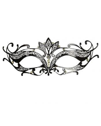 Intricate eye mask made of metal black