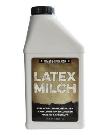 Bottle of liquid latex as a latex milk