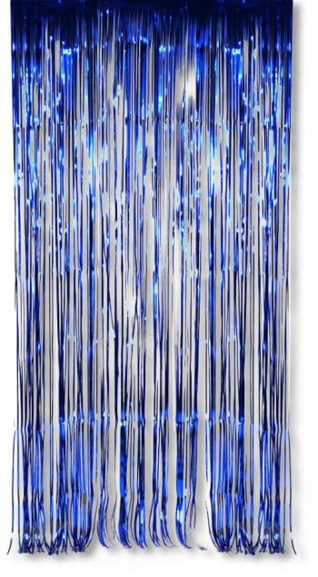 Folien Dekovorhang Blau