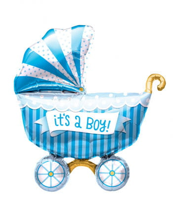 """Foil Balloon Baby Carriage """"It`s a Boy"""""""