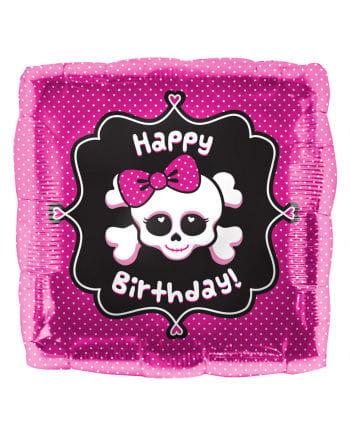 Folienballon Happy Birthday Skull
