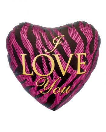 Foil balloon heart shaped purple