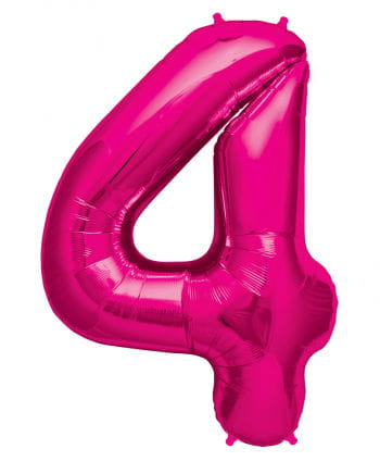 Foil Balloon number 4 Pink