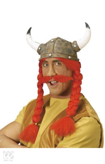 Gallischer Helm mit Zöpfen und Bart