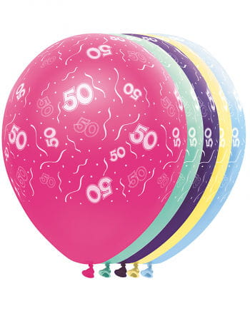 Geburtstag Ballons 50