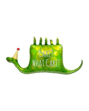 Foil balloon cake vertilgende snake
