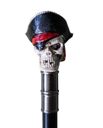 Gehstock mit Piraten-Totenkopf