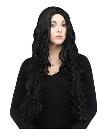 Curly black witch wig