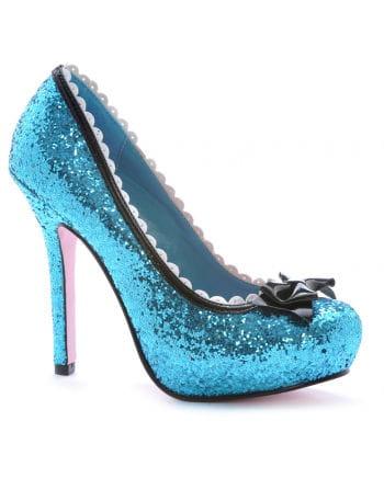 Glitter Pumps mit Schleife Blau