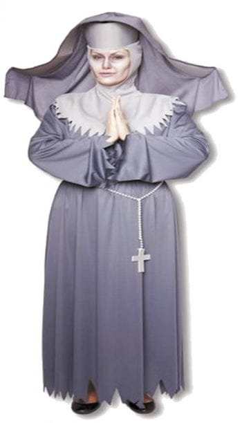 Ruthless Nun Costume Plus Size XL / 42