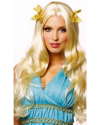 Goddess Wig blond with bay leaves