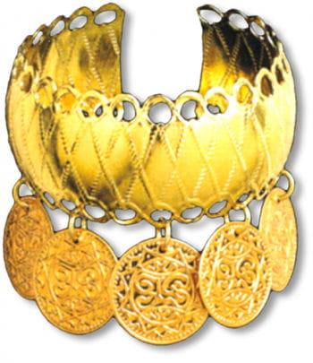 Golden Bracelet with Coins