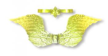 Goldene Engelsflügel mit Diadem