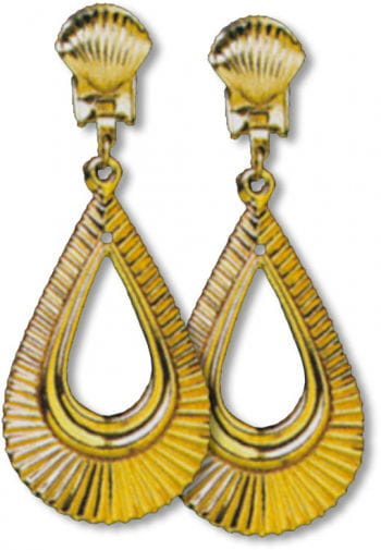 Goldene Ohrringe Tropfenform