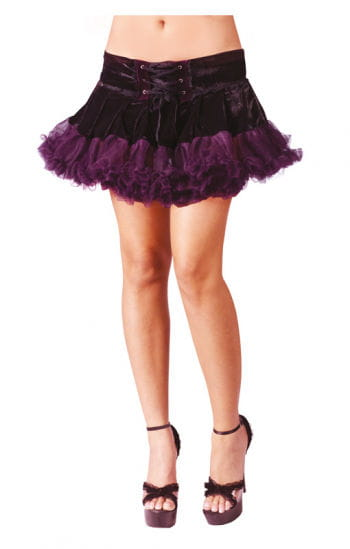Gothic Pettiskirt Black / Purple