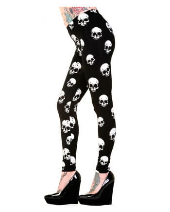 Leggings with skulls