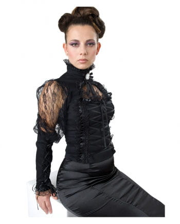 Gothic blouse with lace