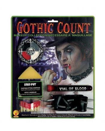 Gothic Vampire Make Up Set with vampire teeth