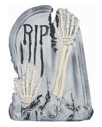 Grabstein mit Skelettarmen