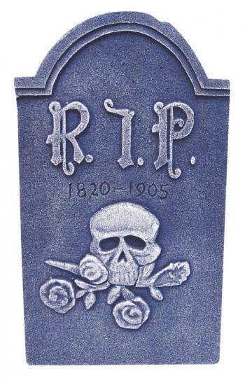 Grabstein mit Totenkopf und Rosen