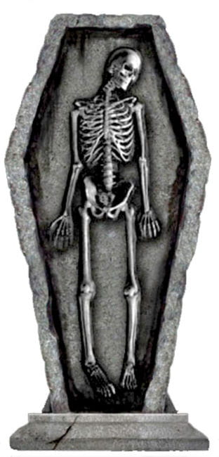 Tombstone Skeleton in Coffin