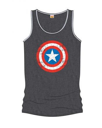 Captain America Girlie Tank Top Grey
