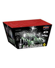 Green Dreams Batteriefeuerwerk 64 Schuss