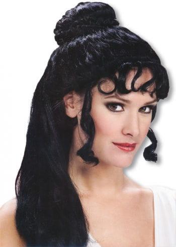 Greek Princess Wig Black Greek Style Synthetic Hair Wig ...