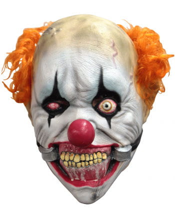 crass clown mask with maulsperre for halloween horror. Black Bedroom Furniture Sets. Home Design Ideas