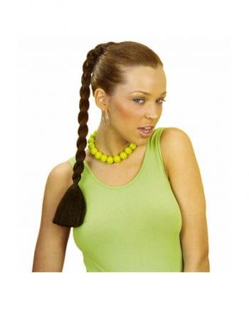Haarteil brauner Zopf
