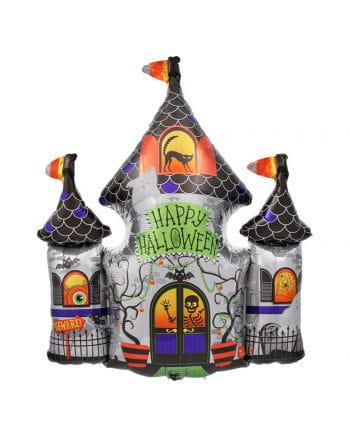 Folienballon Happy Halloween Geisterschloss