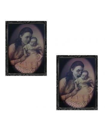 Hologramm Portrait Mutter mit Baby