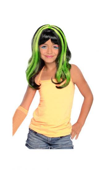 Halloween Kinderperücke neon/grün