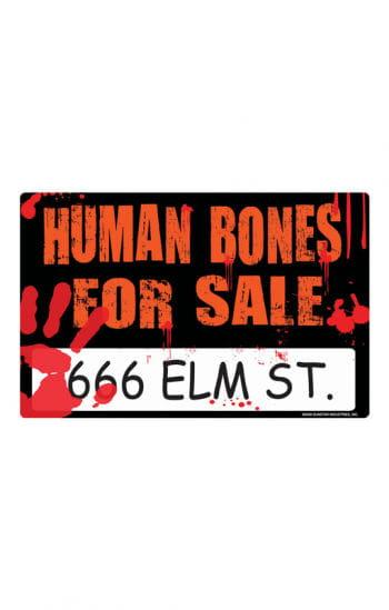 Blutiges Halloween Schild  Human Bones