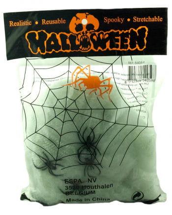 Halloween Spinnennetz mit 4 Spinnen