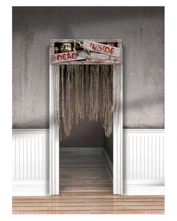 "Halloween door curtain ""DEAD INSIDE"""
