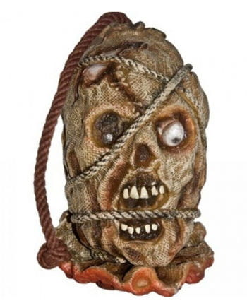 Patio scarecrows head