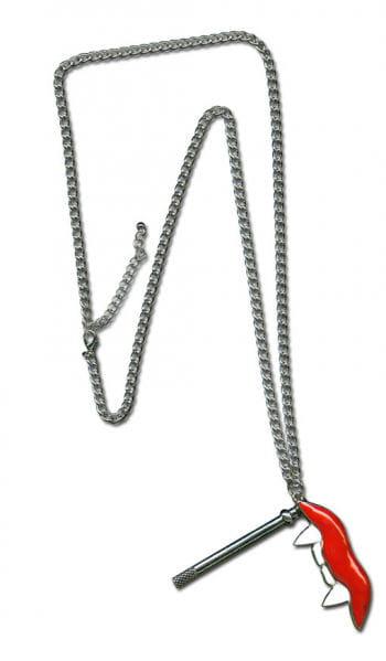 Chain with vampire teeth