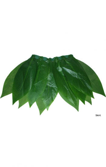 Hawai mini skirt with palm leaves