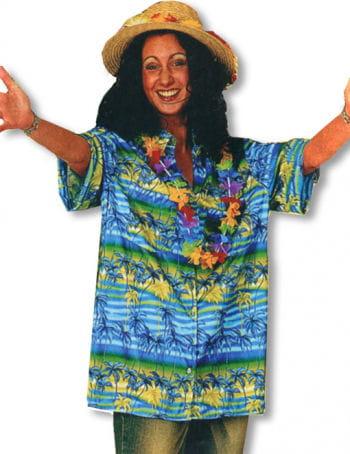 Hawaiian Shirt Palms Blue